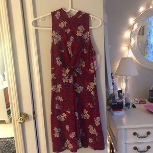 target; xhilaration; floral berry dress